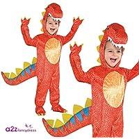 Amscan 884660, Disfraz de dinosaurio para niños, Talla 3-4 Años