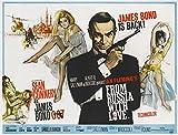 aus Russland mit Liebe Film Poster (1963, Terence Young, Sean Connery als James Bond, Daniela Bianchi), Papier, a2