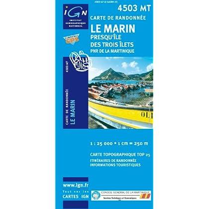 Carte de randonnée : Marin - Rivière-Salée