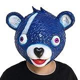 Big Bear Kostüm Maske, Mamum Cuddle Team Leader Bär Spiel Maske Schmelzende Gesicht Erwachsene Latex Kostüm Cosplay Spielzeug Einheitsgröße blau