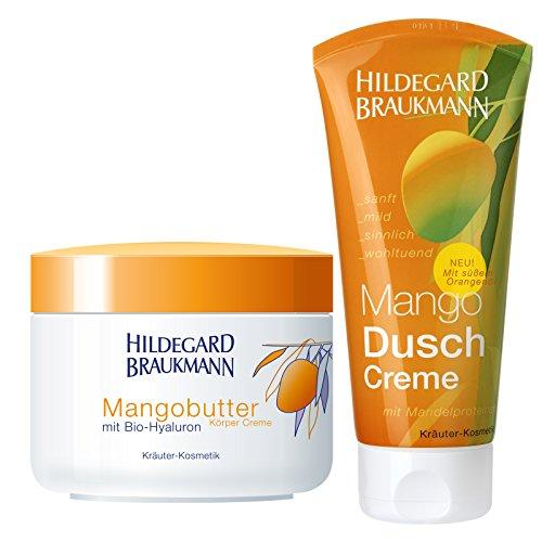 Hildegard Braukmann Mangobutter Körper Creme 200ml + Dusch Creme 200ml