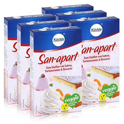 Küchle San-apart 125g - Zum Steifen von Sahne,Tortencremes & Desserts (6er Pack)