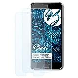 Bruni Schutzfolie kompatibel mit Acer Liquid Z6 Plus Folie, glasklare Bildschirmschutzfolie (2X)