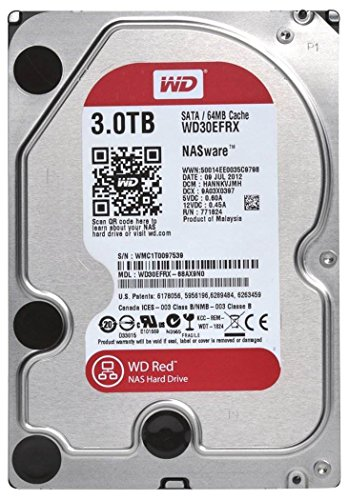Western Digital Red 3TB SATA 6 GB/s - Disco Duro (Serial ATA III, 3000 GB, 8,89 cm (3.5'), 0,6W, 4,4W, 4,4W)