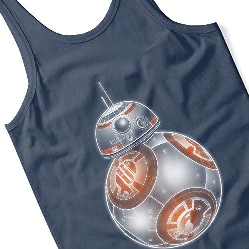 Star Wars BB 8 Rolling Neon Men's Vest Navy Blue