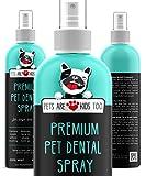 Pets Are Kids Too Spray Dentaire pour Animaux Domestiques (Large - 8 oz) est Le Moyen d'Éliminer la Mauvaise Haleine des Chiens et Chats (1 Bouteille)
