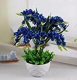 JFWMZyq Künstliche Blumen Gemeinsame Freesie Set Wohnzimmer Dekoration Topfpflanzen Blau