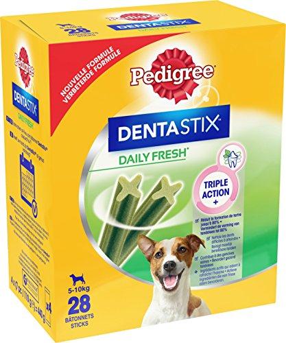 Pedigree DentaStix Fresh Hundesnack für kleine Hunde (5-10kg), Zahnpflege-Snack mit Eukalyptusöl und Grüner Tee-Extrakt, 4 Packungen je 28 Stück (4 x 440 g) - 6
