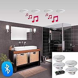Kit 4 Haut-parleurs 160W étanches E-AUDIO avec BLUETOOTH E-AUDIO B403BL
