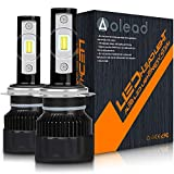 Aolead Lampadine H7 LED 10000LM Super luminoso Sostituzione Lampade per Alogena e Xenon Luci, 50W 6000K 2 lampade