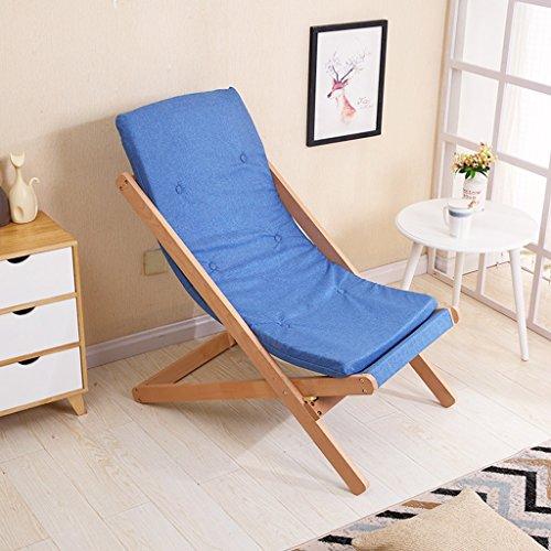 HWF Chaises pliantes Chaise pliante Chaise longue Chaise longue Bureau en bois massif Balcon extérieur Siesta Chaise Plage Style européen (Couleur : C)