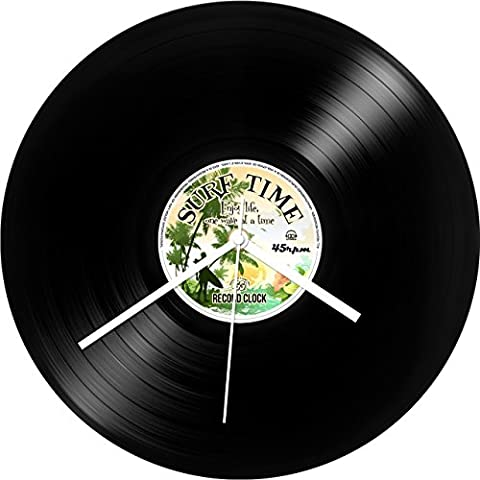 IGGI Record Collection - Reloj de pared, diseño de disco de vinilo LP con texto