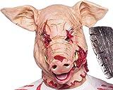 TK Gruppe Timo Klingler Halloween Maske Horror Mumie für Herren und Damen Masken (Schwein Maske)