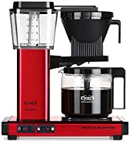 Moccamaster KBG 741 10-Cup Coffee Brewer with Glass Carafe, Red Metallic by Technivorm Moccamaster
