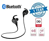 #6: Twogood QY7 Jogger Bluetooth 4.1 Lightweight Wireless Sports Headphones with Built In Mic | Best for running, gym Compatible with all Android or Apple iPhone Devices, Laptops, PC's and Tablets (1 Year Warranty)