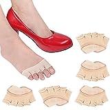 REKYO 10 Paar Baumwollsocken Toe Topper für Frauen Peep Toe Socken Vorfuß Socken Deckel eine halbe Handfläche Zehensocken für Pumpen und Erbsen Schuhe