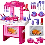 [Sponsored]Elektra 40 Pic Big Size Luxury Battery Operated Portable Kitchen Set Toys For Girls