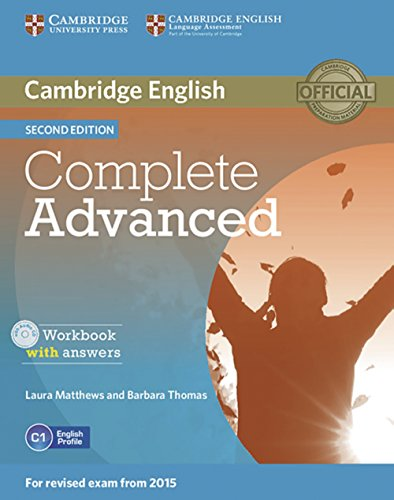 Complete Advanced: Workbook with answers with Audio CD