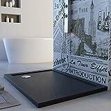 Duschwanne 100x80x4 Acryl Rechteckig Mod. Solid UltraSlim