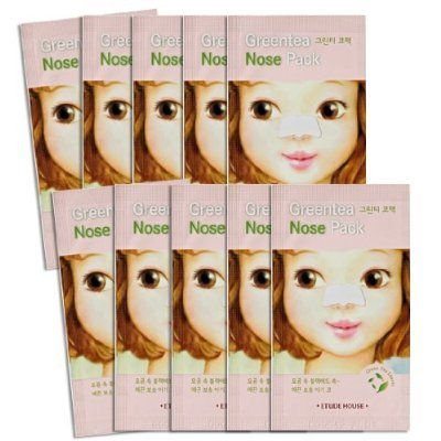 Etude House Greentea Nose Pack x 10pcs by N/A