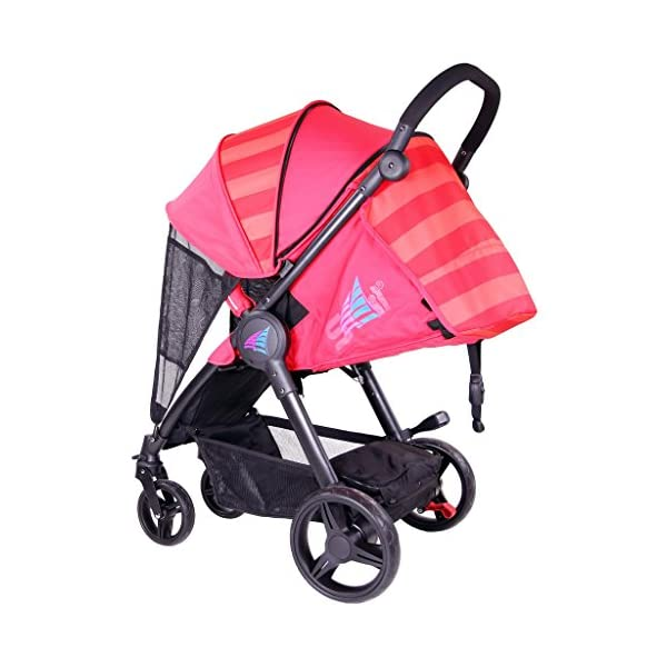 iSAFE Sail Stroller - 7 Colours! (Red) iSafe Media Viewing Extendable Hood Light Weight Sturdy Structure 4