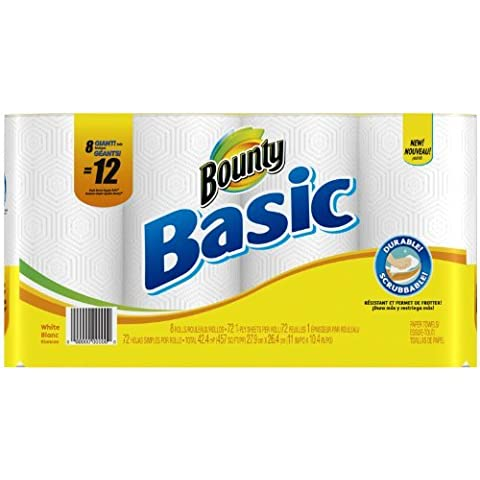 Bounty Basic Paper Towels Giant Roll, 8 ct by Bounty