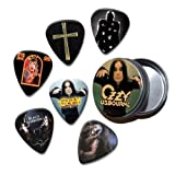 Ozzy Osbourne Set of 6 Loose Guitar Médiators in Tin ( Collection B )