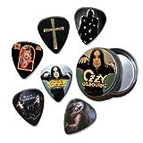 Ozzy Osbourne Set of 6 Loose Guitar Médiators in Tin ( Collection B )