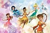 Fototapete Vlies Tinkerbell Beauty Feen Disney XL 2,08x1,46 m 2 Teilig Neu!!