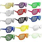 Upsky 12 x Shutter Shades Glasses Sunglasses Party Photo Props Plastic