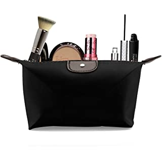 PACKNBUY Cosmetic Makeup Pouch Small Storage Travel  Black