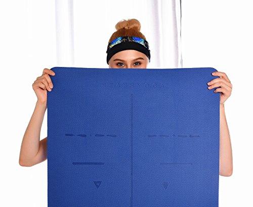 Heathyoga Eco Friendly Non Slip Extra Large Yoga Mat, Blue