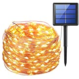 Amir Solar Powered String Lights, (200LED 8 MODES) Starry Copper Wire Solar Lights, 72ft 20m, Waterproof IP65 Solar String Lights, Solar Fairy Lights for Outdoor, Garden, Wedding, Homes, Party, Yard, Party