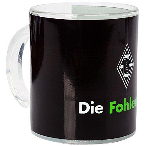 Unbekannt VFL Borussia Mönchengladbach Borussia Mönchengladbach - Fohlenelf-Artikel - Tasse Magic - Fassungsvermögen: 0, 30 Ltr. - Glas Kaffee-/Teetasse, Mehrfarbig 10 x 7 x 9 cm