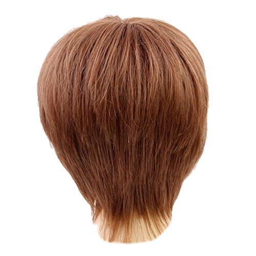 (B Baosity Stilvoll Perücke Haar Wigs Weiblich Glatt Kurz Perücke für Karneval Cosplay Halloween)