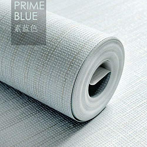 CYCY Papier Peint Simple Lin 3D Papier Peint intissé Chambre Salon étude TV Fond d'écran, Bleu uni