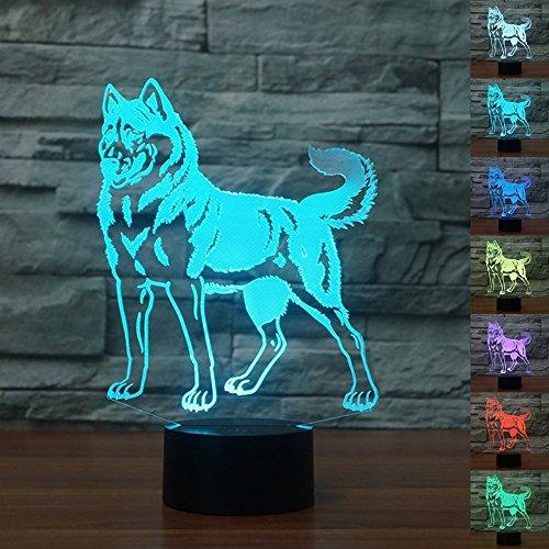 Illusions-Lampen, Tolle 7 Farbwechsel Acryl berühren Tabelle Schreibtisch-Nachtlicht mit USB-Kabel für Kinder Schlafzimmer Geburtstagsgeschenke Geschenk (Charlie Brown Halloween-musik)