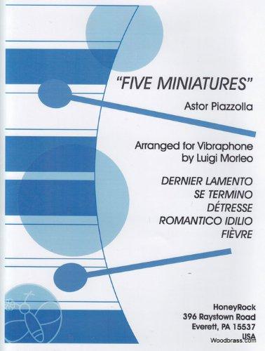 HONEYROCK PIAZZOLLA A. - FIVE MINIATURES - MARIMBA Klassische Noten Perkussion