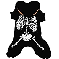 ARAUS Halloween Pet Dog Costume Skeleton Hoodie Fancy Dress Clothes Outfits