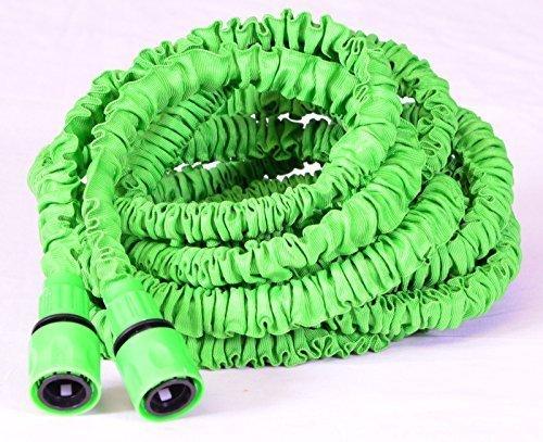Dehnbarer Gartenschlauch flexibler Schlauch Top Qualität verschiedene Längen Gartenschlauch verschiedene Längen Ausdehnung auf das 3fache der Ursprungslänge in grün sehr hochwertig verarbeitet (30m)