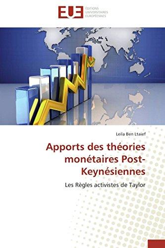 Apports des théories monétaires post-keynésiennes