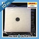 10x Filter für Lunos Lüfter Skalar LRK-S, LRA-S u. LRK-2S - Typ 2/FSK - Filtereinsatz - Ersatzfilter - 033 863