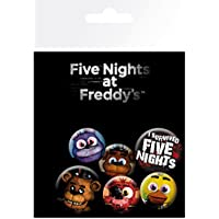 Paquete de chapas GB Eye, inspiradas en la franquicia Five Nights At Freddy's (FNaF)