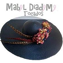 Mabel Diademe Pamela azul marino accesorio pelo para bodas festival eventos boda de mañana