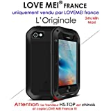 Carcasa iphone 5/5S/Se Lovemei France- antigolpes y resistente al agua – negro