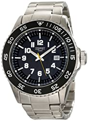 ESPRIT Mens ES103631005 Varic Silver Black Classic Fashion Analog Wrist Watch
