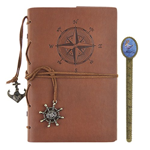 Notizbuch - A5 Retro Tagebuch Journal Reisetagebuch Leder Ringbuch zeichenfolge gebunden Traditionell Skizzenbuch für Journal und Anmerkung