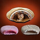 Creation® Cat Bed Cave, Intérieur à l'épreuve du vent imperméable à l'épreuve des animaux de compagnie chat sac de couchage...