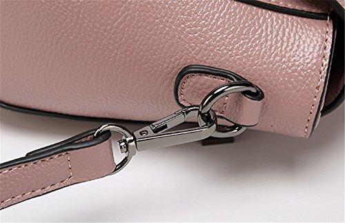 Xinmaoyuan Borse donna in pelle borsa Messenger Ladies Ladies Bag Borsa a tracolla Borsa Fiocco di colore solido borsetta con chiusura lampo,Balck Bianco