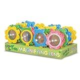 Tobar fiore o rana d'ingrandimento lente 13cm alti bambini giocattolo Manifier nuovo per età 3 +